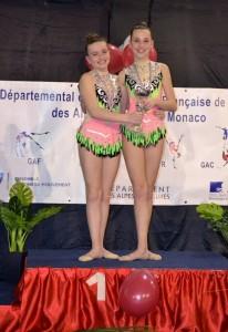Depart Duo national 13 ans et moins Eva I et Mélissa
