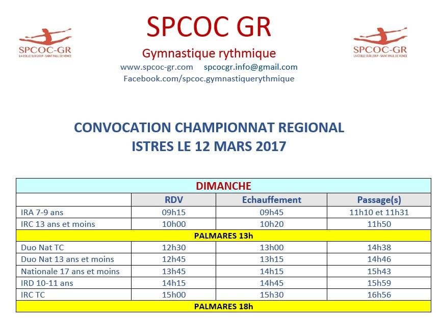convocation region equipe Nat et IR